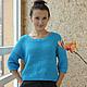 Кофты и свитера ручной работы. Джемпер, мерсеризованный хлопок. PeeKaBoo                   Knitwear. Ярмарка Мастеров. Свитер женский, девушке в подарок