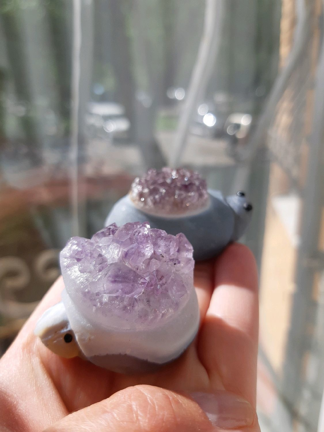 Unique! SUSIE AND SNAPE - nice turtle a couple of friends amethysts, Amulet, Moscow,  Фото №1