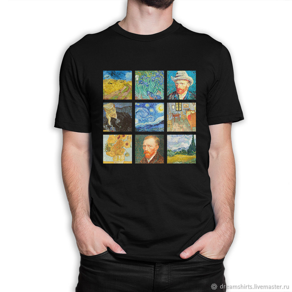 Cotton T-shirt ' Van Gogh paintings', T-shirts and undershirts for men, Moscow,  Фото №1