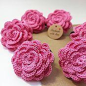 Работы для детей, handmade. Livemaster - original item Hair clips and hair bands: Jewelry Elastic band for hair pink roses. Handmade.