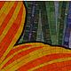 Картины цветов ручной работы. Заказать Цветок. Мозаика&роспись (mosaicdecor). Ярмарка Мастеров. Оранжевый цветок, цветочное панно, мозаика