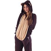 Одежда handmade. Livemaster - original item Home jumpsuit Brown Bear BROWN BEAR FUNKY HOME SUIT. Handmade.
