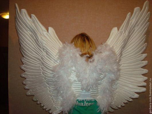 Карнавальные костюмы ручной работы. Ярмарка Мастеров - ручная работа. Купить ангельские крылья. Handmade. Белый, хеллоуин, атласная ткань