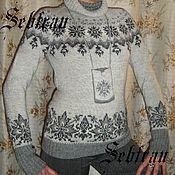"""Одежда ручной работы. Ярмарка Мастеров - ручная работа Свитер связанный на спицах """"Горный Кристалл"""", авторская работа. Handmade."""