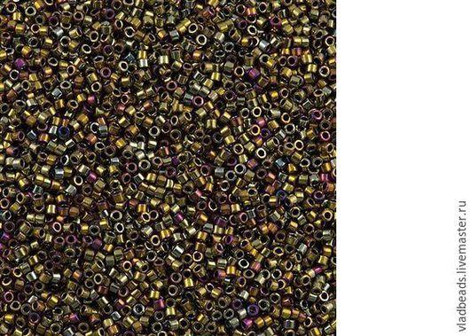 Для украшений ручной работы. Ярмарка Мастеров - ручная работа. Купить Бисер delica 29 Metallic Purple Gold  Iris. Handmade.