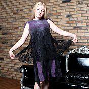 """Одежда ручной работы. Ярмарка Мастеров - ручная работа Авторское валяное платье """"black cherry"""". Handmade."""