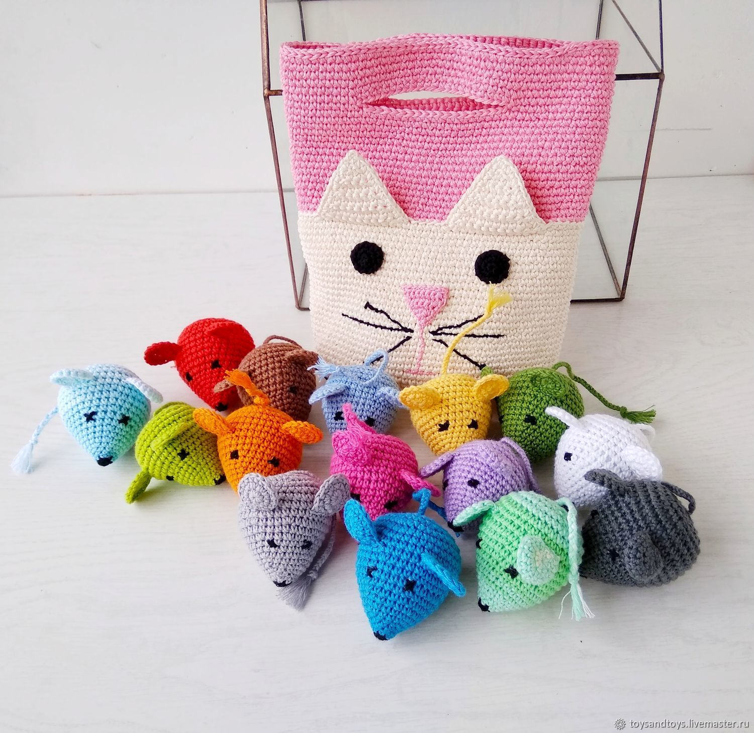Cat-and-mouse. Toy . Learn the invoice and color with the kids, Stuffed Toys, Gukovo,  Фото №1