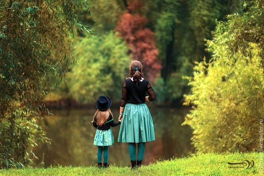 Юбки ручной работы. Ярмарка Мастеров - ручная работа. Купить Юбки для мамы и дочки (Family look). Handmade. Разноцветный, фемилилук