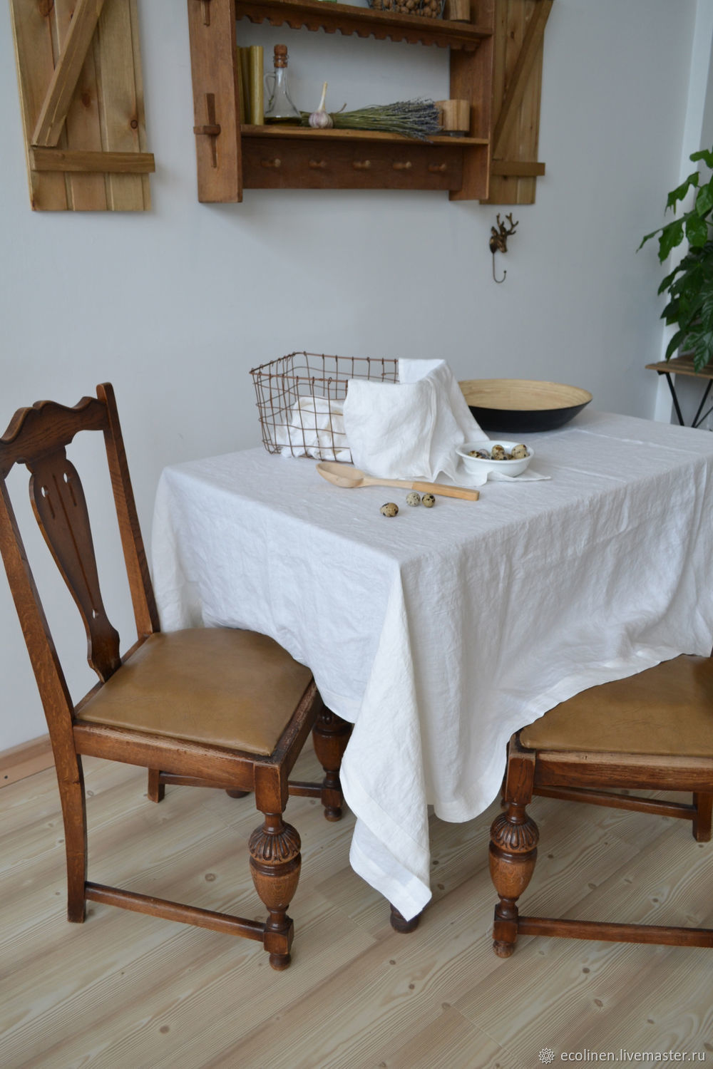 Linen tablecloth. Tablecloth. 100% linen. Softened. In the kitchen. kit, Tablecloths, Minsk,  Фото №1