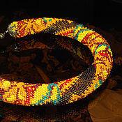 Украшения ручной работы. Ярмарка Мастеров - ручная работа Колье, вязаные жгуты. Handmade.