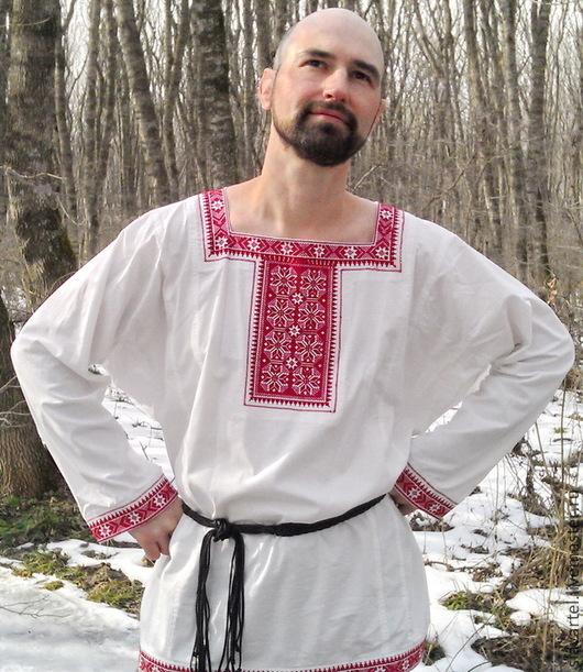 Рубаха с прямоугольной горловиной `Восход Арконы`