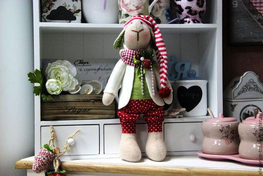 Куклы Тильды ручной работы. Ярмарка Мастеров - ручная работа. Купить Овечка новогодняя. Handmade. Овечка, овца игрушка
