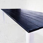 Для дома и интерьера ручной работы. Ярмарка Мастеров - ручная работа Большой обеденный стол «Лонг Блю» из дерева. Handmade.