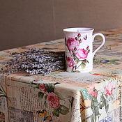 Для дома и интерьера ручной работы. Ярмарка Мастеров - ручная работа Льняная скатерть Ботаника. Handmade.