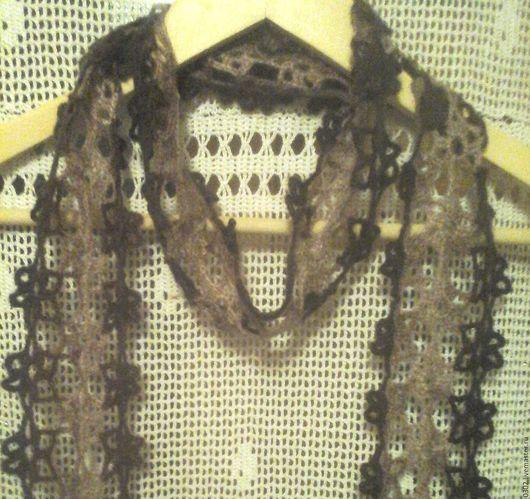 Шарфы и шарфики ручной работы. Ярмарка Мастеров - ручная работа. Купить Шарфик ажурный. Handmade. Комбинированный, шарфик
