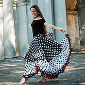 """Одежда ручной работы. Ярмарка Мастеров - ручная работа Юбка """"Летиция"""" для цыганского танца или фламенко. Handmade."""
