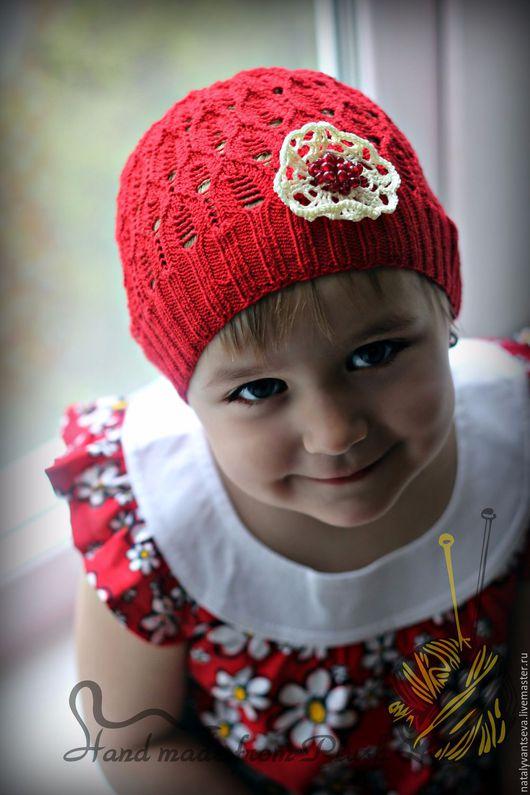 Обучающие материалы ручной работы. Ярмарка Мастеров - ручная работа. Купить МК-описание ажурной шапки Pomegranate seeds (Гранатовое зернышко). Handmade.