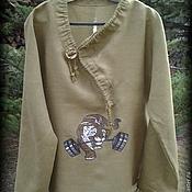 Одежда ручной работы. Ярмарка Мастеров - ручная работа Рубаха мужская. ЧУДЬ-одежда. Handmade.