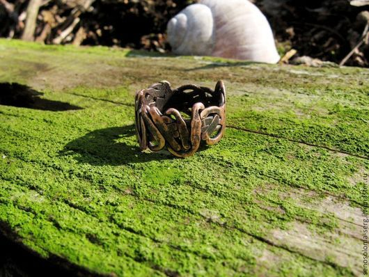 """Кольца ручной работы. Ярмарка Мастеров - ручная работа. Купить Кольцо """"Черновик"""". Handmade. Кольцо медное, удобное украшение, лес"""