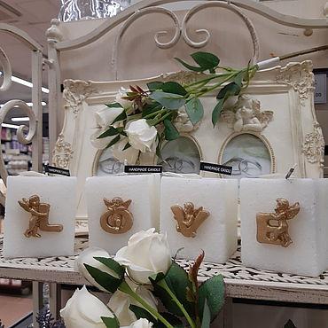 """Для дома и интерьера ручной работы. Ярмарка Мастеров - ручная работа Свечи: Набор свечей """"LOVE"""". Handmade."""