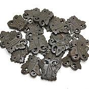 Материалы для творчества handmade. Livemaster - original item Beads Carved Buffalo Bone Butterfly 23h21mm. Handmade.
