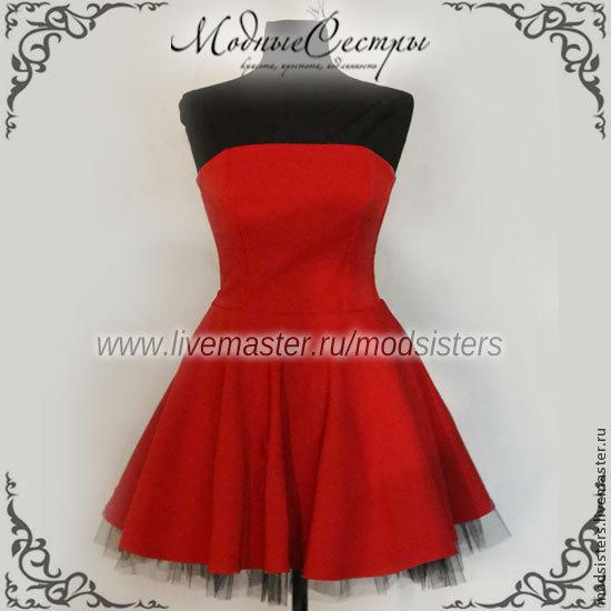 Women's dress 'Bright red' Art.117, Dresses, Nizhny Novgorod,  Фото №1
