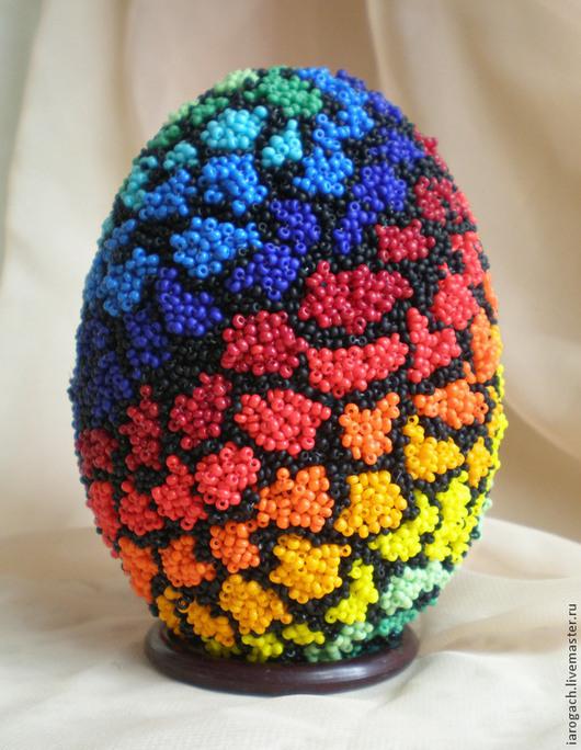 """Подарки на Пасху ручной работы. Ярмарка Мастеров - ручная работа. Купить Пасхальное яйцо """"Бисерный дудлинг"""". Handmade. Разноцветный"""
