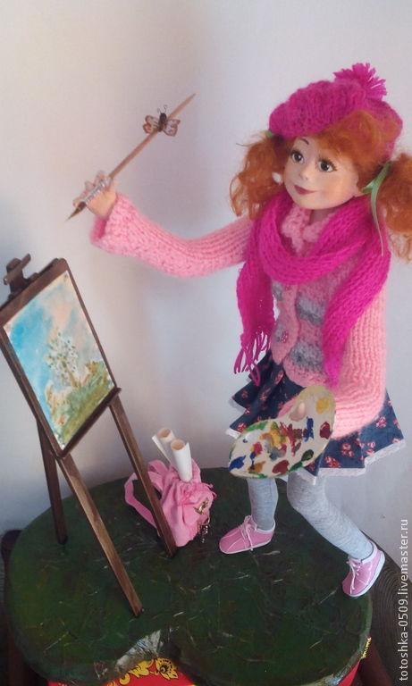 Коллекционные куклы ручной работы. Ярмарка Мастеров - ручная работа. Купить Юное дарование. Handmade. Разноцветный, подарок