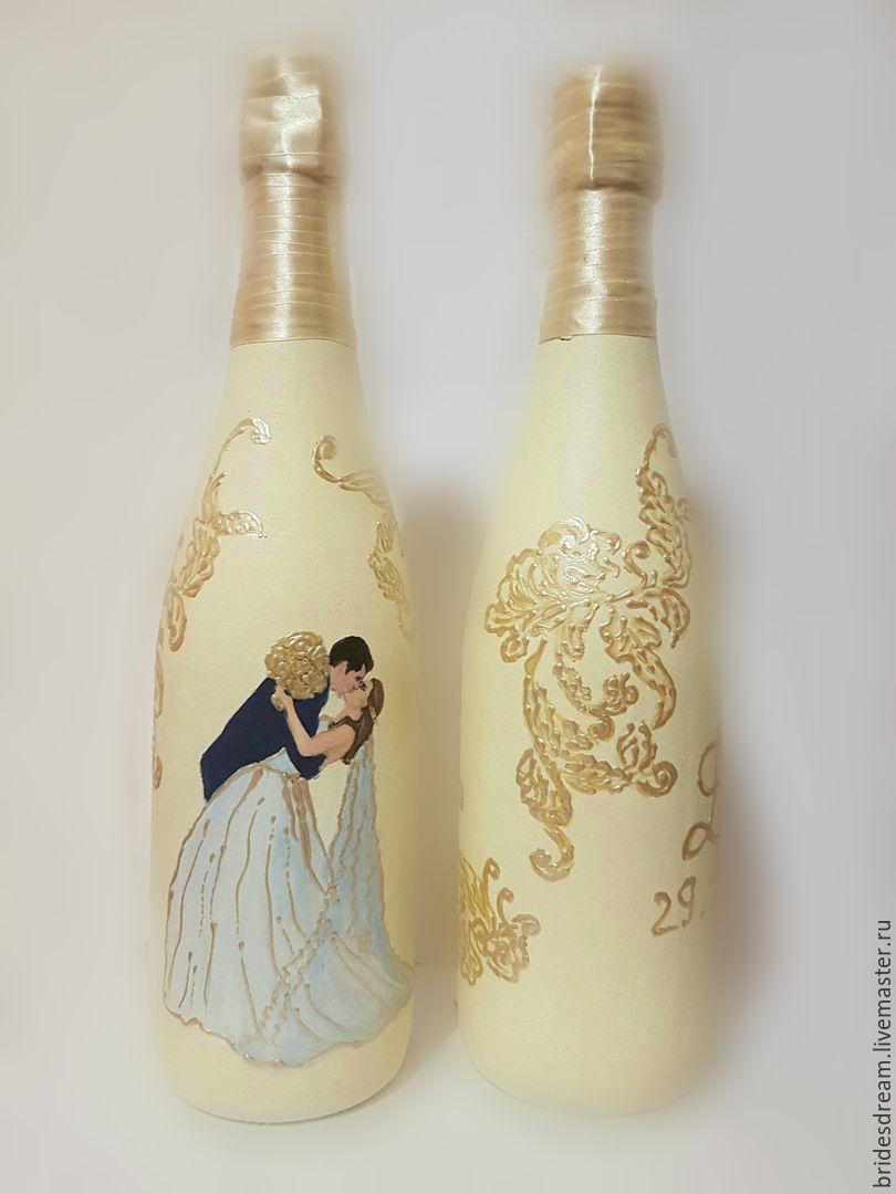 Wedding decor bottles 'Venetian pattern', Bottle, Moscow,  Фото №1