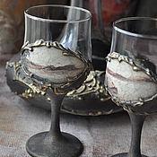 Подарки к праздникам handmade. Livemaster - original item Set for wine. Handmade.