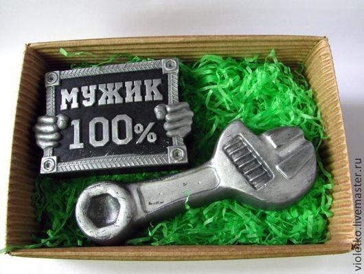 Мыло ручной работы. Ярмарка Мастеров - ручная работа. Купить Подарочный набор Настоящему Мужику. Handmade. Черный, инструменты