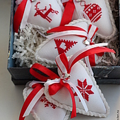 Подарки к праздникам ручной работы. Ярмарка Мастеров - ручная работа Набор новогодних игрушек. Handmade.
