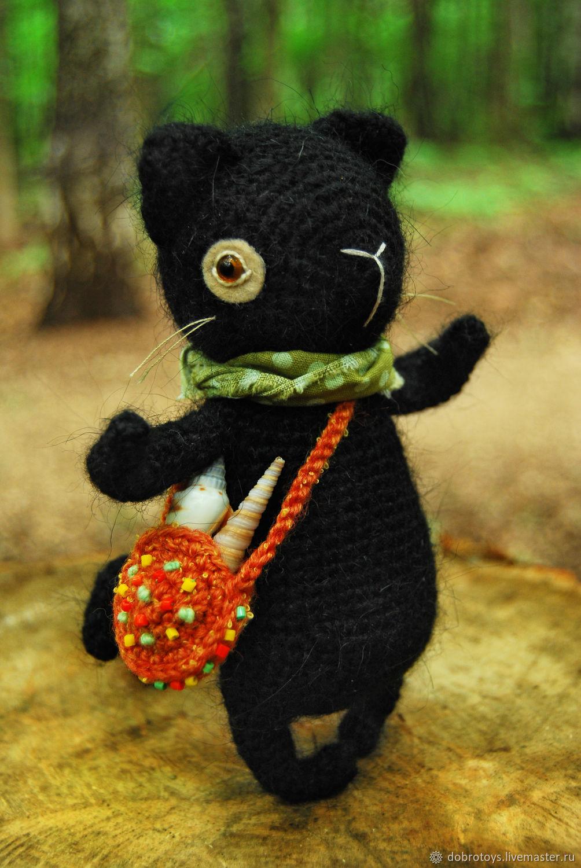 Котик Тимошкин, юный собиратель ракушек, Мягкие игрушки, Москва,  Фото №1
