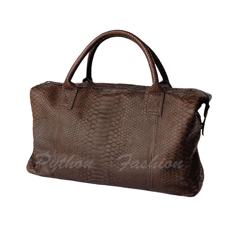 Travel bag made of Python. Tote bag from Python. Bag Python custom. Bag for travel and travel. Roomy bag made of Python handmade. Stylish pimonova bag for travel.