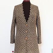 Одежда handmade. Livemaster - original item Cardigan tweed crocheted