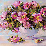 Картины и панно handmade. Livemaster - original item Oil painting on canvas of flowers