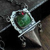 Украшения handmade. Livemaster - original item Necklace silver, pendant silver, natural stones. Handmade.