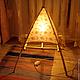 Освещение ручной работы. Ярмарка Мастеров - ручная работа. Купить Пирамида света. Handmade. Бежевый, домашний уют, хлопок 100%