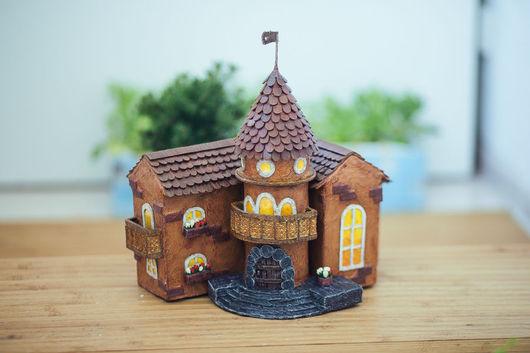 Миниатюрные модели ручной работы. Ярмарка Мастеров - ручная работа. Купить Песочный замок. Handmade. Домик, миниатюрный домик, миниатюра