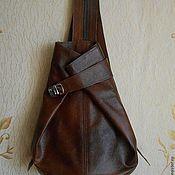 Сумки и аксессуары ручной работы. Ярмарка Мастеров - ручная работа Женская сумка рюкзак  из натур. кожи  рыже-коричневого цвета. Handmade.