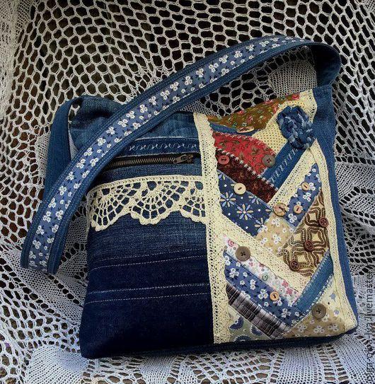 """Женские сумки ручной работы. Ярмарка Мастеров - ручная работа. Купить сумка """"Унесённые ветром"""". Handmade. Комбинированный, джинсовая сумка"""