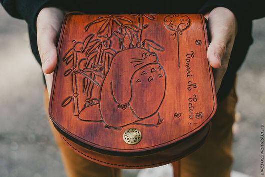 """Женские сумки ручной работы. Ярмарка Мастеров - ручная работа. Купить сумка """" Тоторо"""". Handmade. Коричневый"""