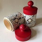 Для дома и интерьера ручной работы. Ярмарка Мастеров - ручная работа Баночки для печенья Птицы в саду. Handmade.