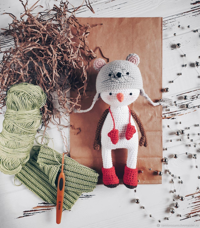 Снеговик МАСТЕР КЛАСС крючком, Мягкие игрушки, Йошкар-Ола,  Фото №1