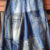 Одежда handmade. Livemaster - original item Boho denim skirt. Handmade.