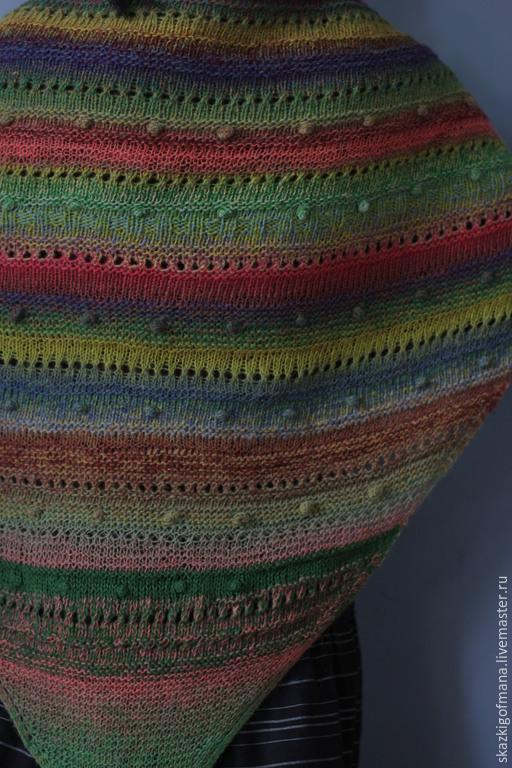 Шали, палантины ручной работы. Ярмарка Мастеров - ручная работа. Купить Шерстяная шаль  Разнотравье. Handmade. Разноцветный, разнотравье