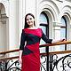Платья ручной работы. Ярмарка Мастеров - ручная работа. Купить Платье из Джерси с карманами - серый, красный. Handmade. Ярко-красный