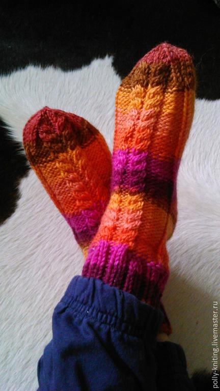 """Носки, Чулки ручной работы. Ярмарка Мастеров - ручная работа. Купить Носочки домашние """"Regia"""". Handmade. Разноцветный, носки для детей"""