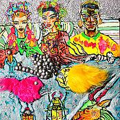 Картины и панно ручной работы. Ярмарка Мастеров - ручная работа Ламарджина,Джина и Ламарио, глубоководные саблезубы и альтернативная в. Handmade.