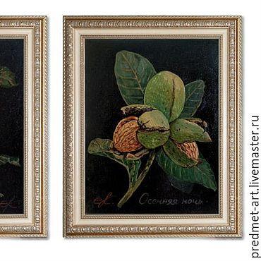 """Картины и панно ручной работы. Ярмарка Мастеров - ручная работа """"Осенняя ночь.Орех"""". Handmade."""